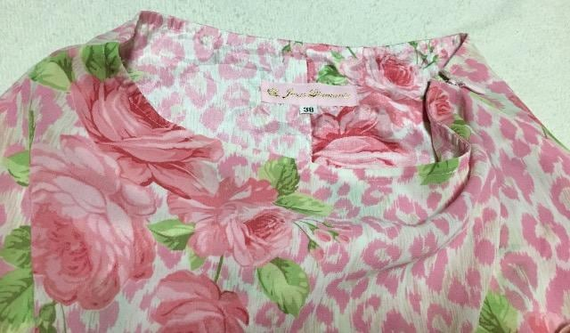 ディアマンテ☆ヒョウ薔薇柄スカート☆ピンク < ブランドの