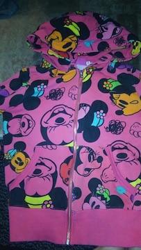 ミニーマウス パーカー キッズサイズS ピンク