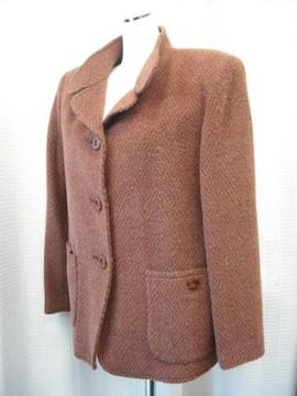 【ビランクロス】アルパカ入りツイードのジャケットコート