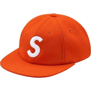 Supreme Wool S Logo 6-Panel Cap Orange 17aw キャップ
