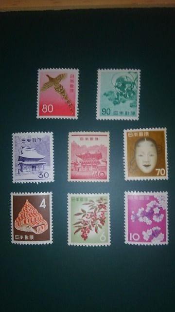 第二次円単位【未使用普通切手】8種  < ホビーの