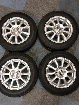 0082888国産グッドイヤ-スタッドレスタイヤ美品アルミホイ-ルセット165/70R14送料無料