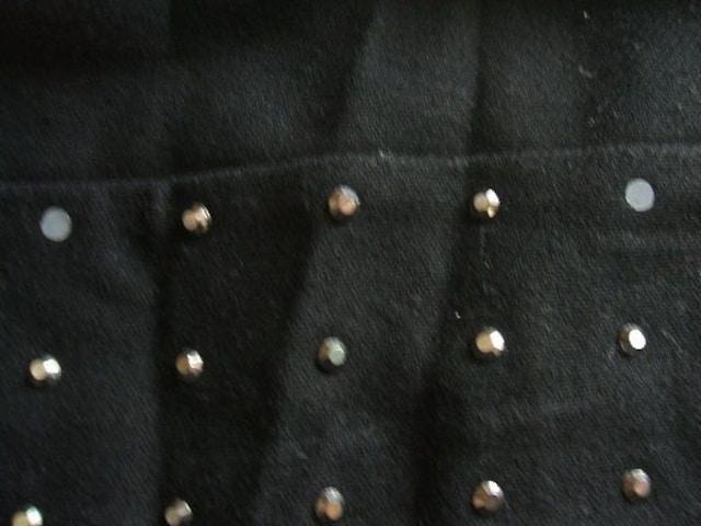 .古着バービーキラキラ石付きミニスカート黒Mサイズ < ブランドの