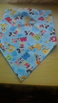 ミッキー後ろゴム入り三角巾