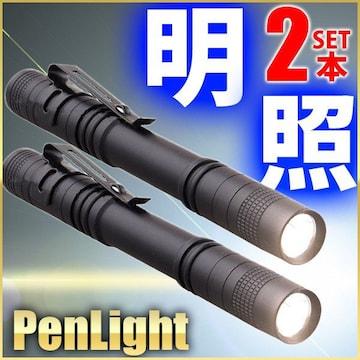 ハンドライト 懐中電灯 ハンディライト 2本セット ペン型ライト