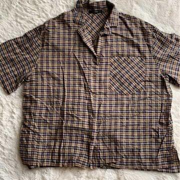w  cIoset  チェックシャツ  フリーサイズ