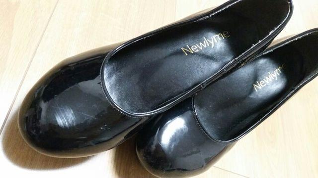【中古】ブラックパンプス★23.0�p < 女性ファッションの