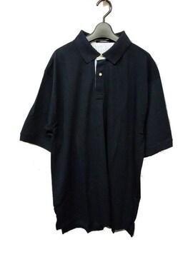セール新品送込おしゃれポロシャツ2XLネイビー★ビッグシルエット★シンプルストリート