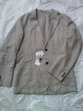 UNIQLO ユニクロ リネンコットン シンプル ジャケット ブラウン Sサイズ 軽い 柔らかい