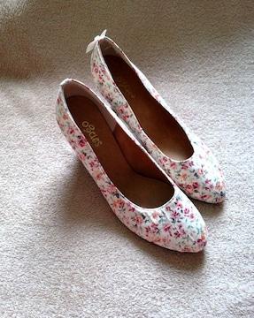 sango/サンゴ★花柄 フローラル パンプス 靴 Mサイズ