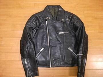 70年代 NZ製 パデッド ライダースジャケット SM