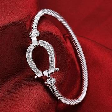 ホース馬蹄バングルクラシックダイヤモンドブレスレットAAA