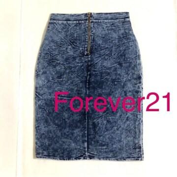 #Forever21ストレッチデニム薄手スカートファスナー