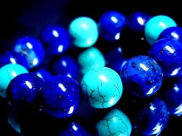 ラピスラズリ瑠璃石§ターコイズ§14ミリ