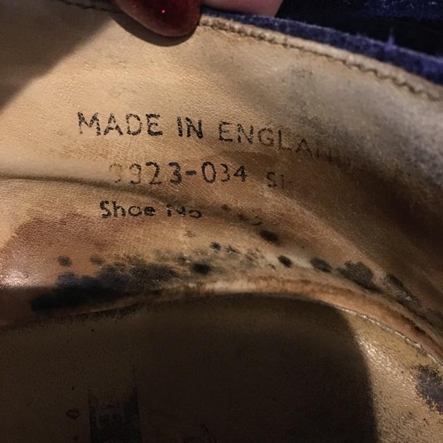 ジョージコックス スウェードラバーソール ブルー 英国製 UK6 < ブランドの