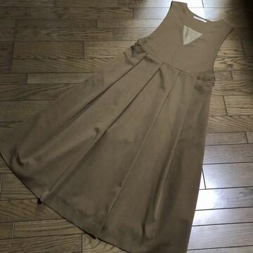 KBFアーバンリサーチ 茶ブラウン ジャンパーロングスカート
