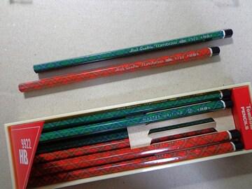 チェック柄2種 HB 1ダース トンボ鉛筆