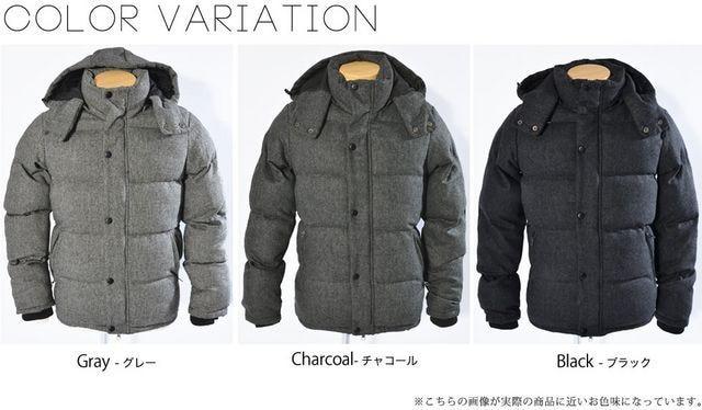 ウール中綿ダウンジャケット◆ジャンパーアウター  < 男性ファッションの