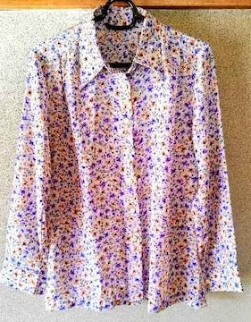 シャツ ブラウス カーディガン 花柄 11号 長袖 洋服 レディース