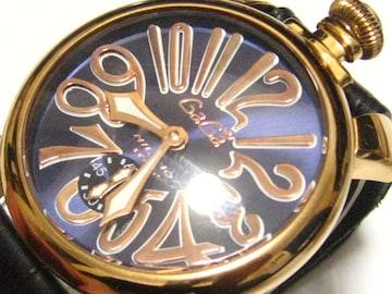 GaGa MILANOガガミラノ.48MM手巻き.定価25万の圧巻メンズ最高の腕時計